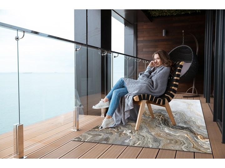 Dywan na taras do ogrodu na balkon Perłowy marmur Dywany Prostokątny 80x120 cm 60x90 cm Winyl Pomieszczenie Sypialnia