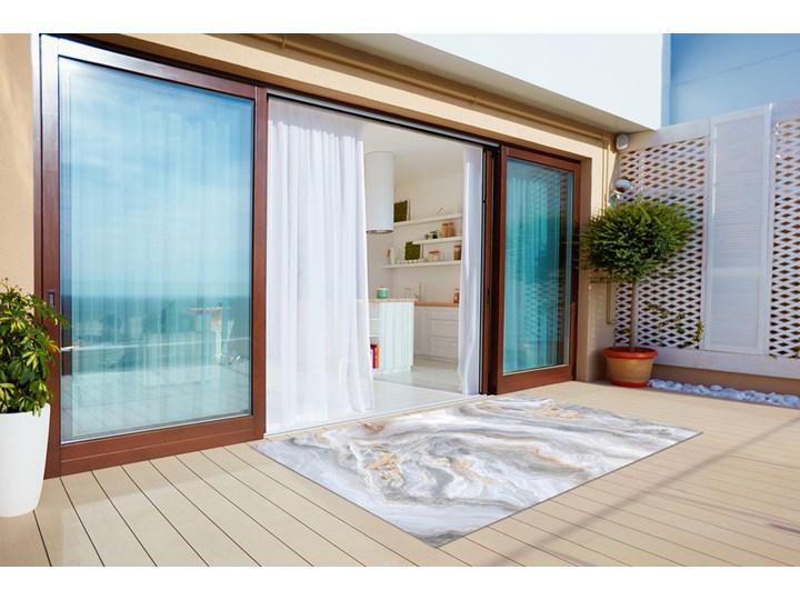 Nowoczesny dywan outdoor wzór Marmurowe morze Winyl 60x90 cm Prostokątny 80x120 cm Dywany Kolor Szary