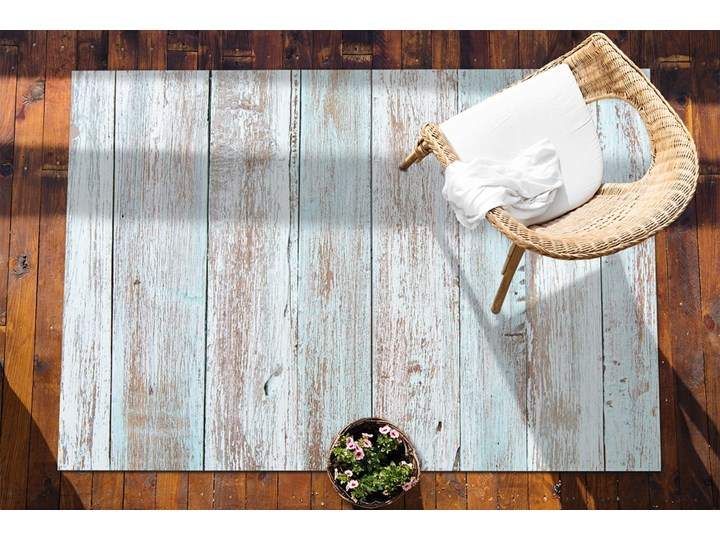 Wykładzina tarasowa zewnętrzna Retro deski Winyl 80x120 cm Dywany Kolor 60x90 cm Prostokątny Kategoria Dywany
