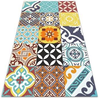 Nowoczesny dywan tarasowy Mix kolorowych wzorów