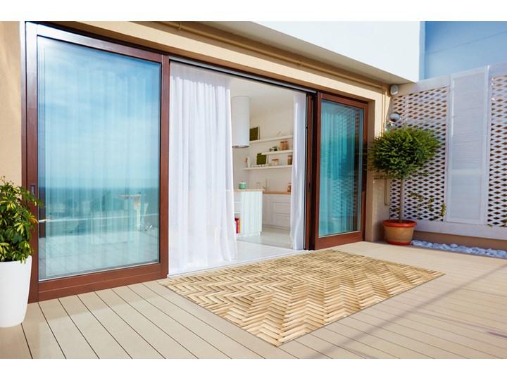 Tarasowy dywan zewnętrzny Wiklinowa tekstura 60x90 cm Dywany Prostokątny 80x120 cm Winyl Kategoria Dywany