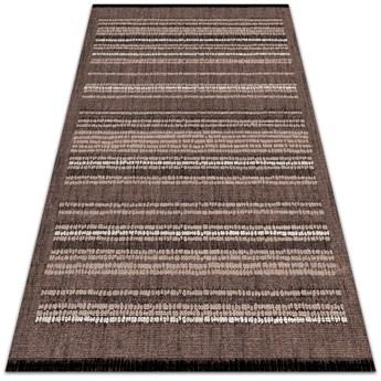Modny dywan winylowy Wzór brązowa tkanina
