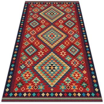 Modny dywan winylowy Kolorowe trójkąty retro
