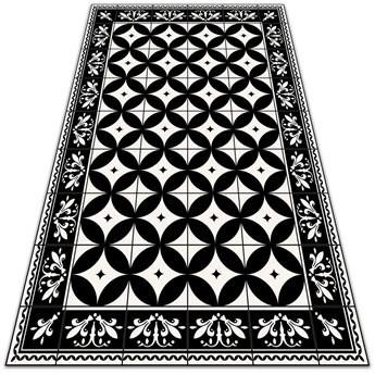 Modny uniwersalny dywan winylowy Koła w kafelkach