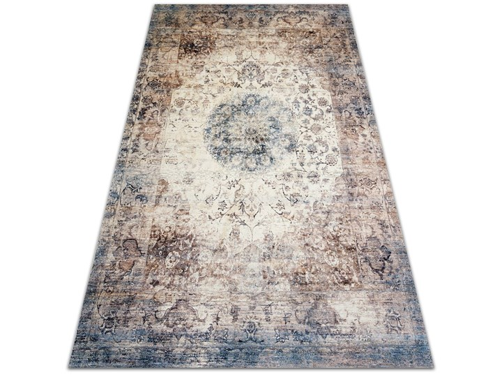 Modny uniwersalny dywan winylowy Perska geometria 80x120 cm Syntetyk Pomieszczenie Salon 60x90 cm Dywany Pomieszczenie Sypialnia