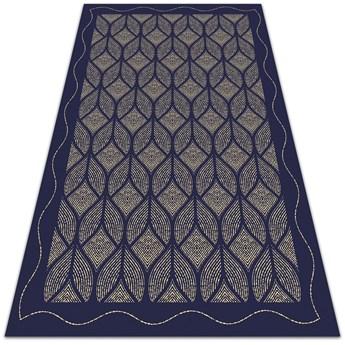 Modny winylowy dywan Geometryczny splot