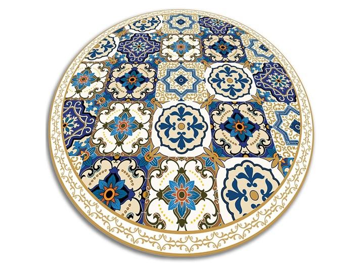 Mata winylowa do domu portugalskie kafelki Dywany 60x60 cm Pomieszczenie Balkon i taras Okrągły Kolor