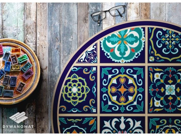 Modny dywan winylowy portugalskie kafelki Dywany Pomieszczenie Balkon i taras Syntetyk Okrągły 60x60 cm Pomieszczenie Kuchnia