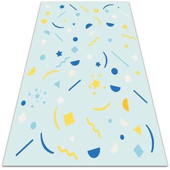 Modny dywan winylowy Abstrakcyjna piniata