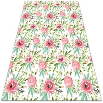 Uniwersalny dywan winylowy Akwarelowe różyczki