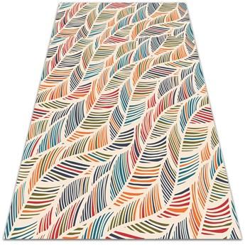 Modny uniwersalny dywan winylowy Konturowe liście