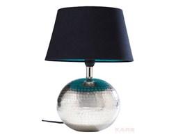 Kare Design Hammered Ball Lampa Stołowa Czarny klosz Srebrna Podstawa - 33373