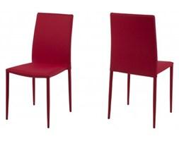 Actona Piano Nowoczesne Krzesło Czerwone Tkanina - 0000054408