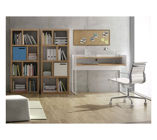 temahome oslo nowoczesne bia e biurko bia y lakier matowy fornir d bowy 124cm 9500 052552. Black Bedroom Furniture Sets. Home Design Ideas