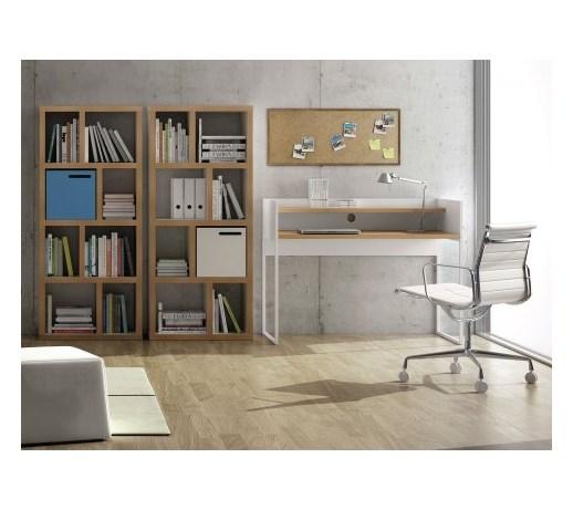 temahome oslo nowoczesne białe biurko biały lakier matowy fornir