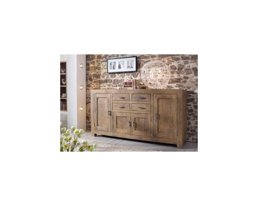 wolf m bel guru drewniana komoda 4 drzwiowa z 4 szufladami. Black Bedroom Furniture Sets. Home Design Ideas