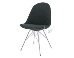 Tenzo Krzesło Donna Czarne Tkanina Nogi Porgy Metalowe Chrom - DonnaPorgy-C-CH