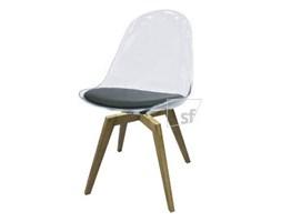 Tenzo Krzesło Bonni Transparentne Nogi Bess Drewniane - BonniBess-T-D