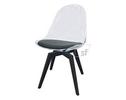 Tenzo Krzesło Bonni Transparentne Nogi Bess Drewniane Czarne - BonniBess-T-C