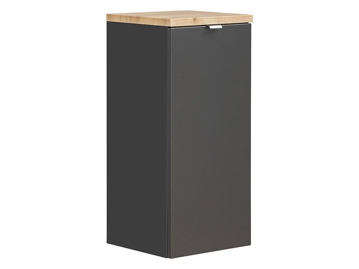 Półsłupek łazienkowy z koszem na pranie - Malta 4X Czarny mat Kategoria Szafki stojące Wiszące Kolor Szary