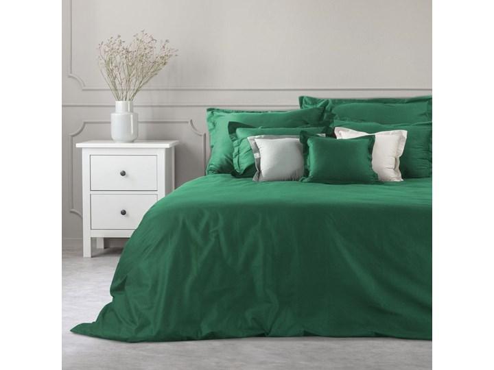 Poszwa bawełniana na kołdrę 180X200 Eurofirany Nova Colour butelkowa zieleń 180x200 cm Pomieszczenie Pościel do sypialni Bawełna Satyna Wzór Jednolity