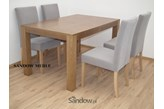 Meble do jadalni stół S-21 80x140 do 190 lub 90x160 do 210 + 4 krzesła DAS