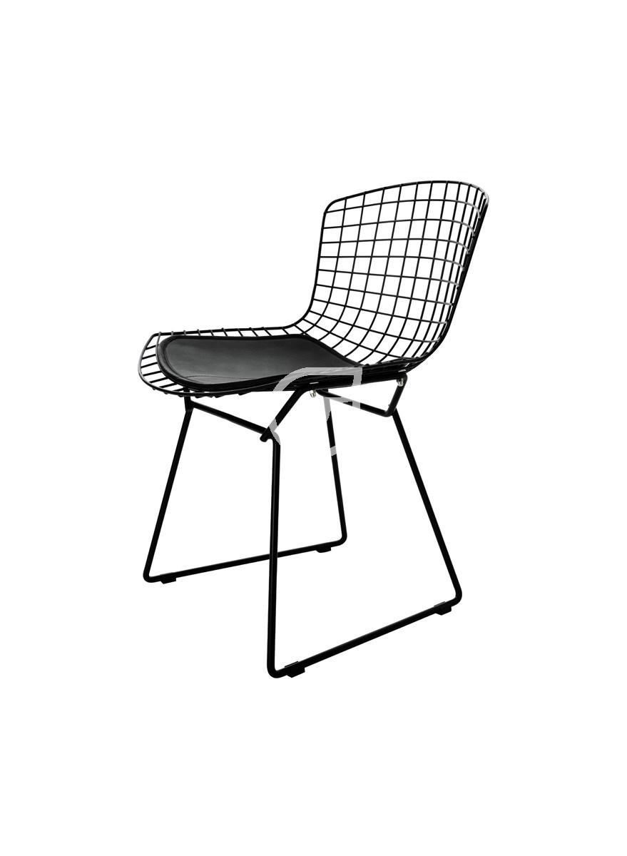 Customform Krzesło Wir Chair Metalowe Czarne C606 Krzesła