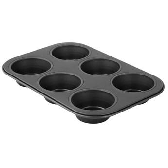 ZENKER Forma do muffinek 6szt  26x18 cm Black Metallic