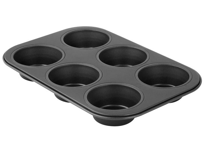 Forma do muffinek 6szt 26x18 cm Black Metallic Stal Kolor Czarny