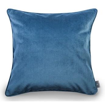 Niebieska aksamitna poszewka na poduszkę WeLoveBeds Jeans, 50x50 cm