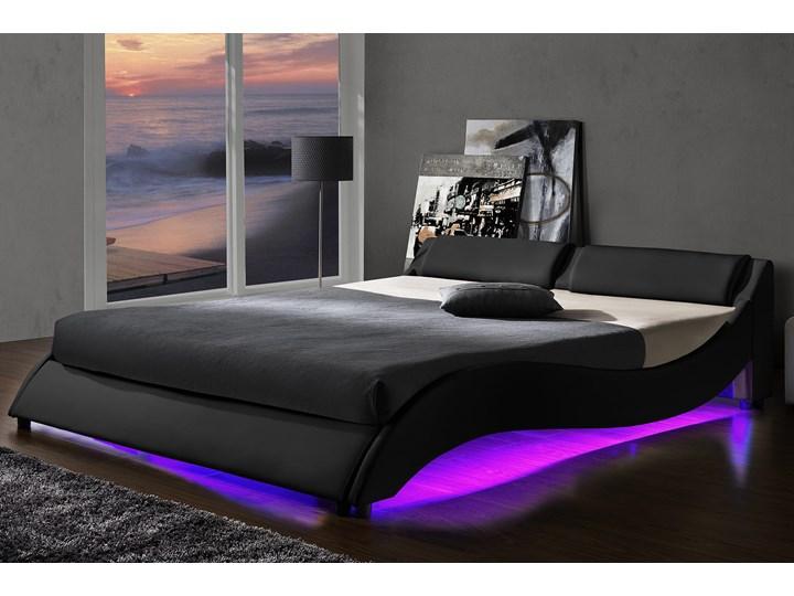 ŁÓŻKO TAPICEROWANE DO SYPIALNI 120x200 868 LED CZARNE Kategoria Łóżka do sypialni Kolor Czarny