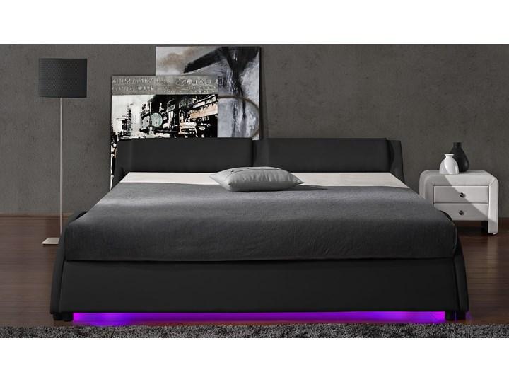 ŁÓŻKO TAPICEROWANE DO SYPIALNI 120x200 868 LED CZARNE Kolor Czarny Rozmiar materaca 120x200 cm