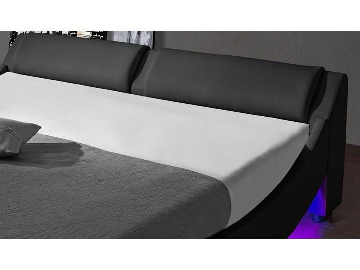 ŁÓŻKO TAPICEROWANE DO SYPIALNI 120x200 868 LED CZARNE Rozmiar materaca 120x200 cm Kolor Czarny