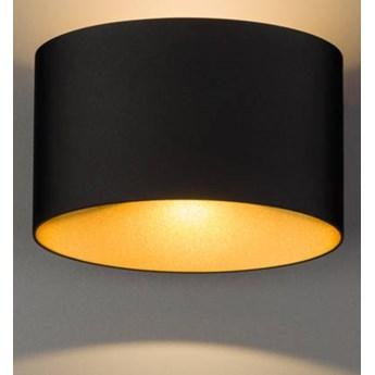 """Kinkiet """"ELLIPSES LED""""  z aluminium Czarno - Złoty 8181"""