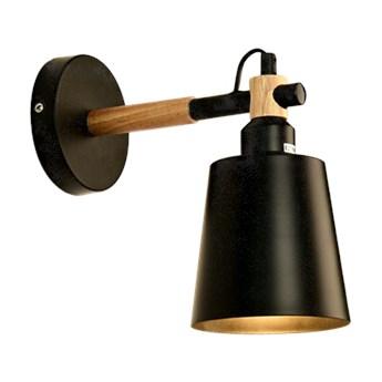 Kinkiet ścienny PATSI E27 żelazo drewno czarny sosna EDO777192 EDO