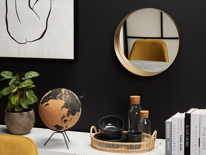 Lustro ścienne wiszące kolor miedzi 40 cm salon sypialnia Styl Nowoczesny Okrągłe Styl Vintage