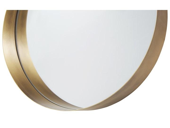 Lustro ścienne wiszące kolor miedzi 40 cm salon sypialnia Pomieszczenie Garderoba Okrągłe Kategoria Lustra