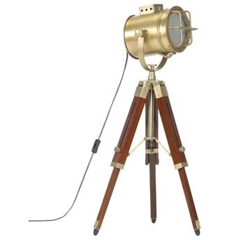 Brązowa lampa stojąca retro z regulacją wysokości - EX190-Savita