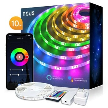 Taśma LED  NOUS F2 WIFI SMD5050 10M RGB Kolorowa + pilot Tuya