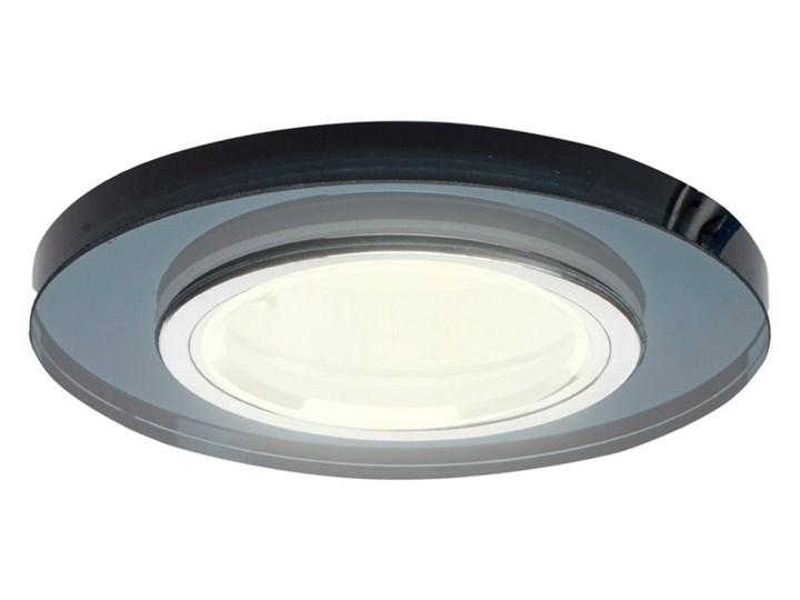 Oczko sufitowe szklane OKRĄGŁE. Kolor: CZARNY Oprawa stropowa Kategoria Oprawy oświetleniowe