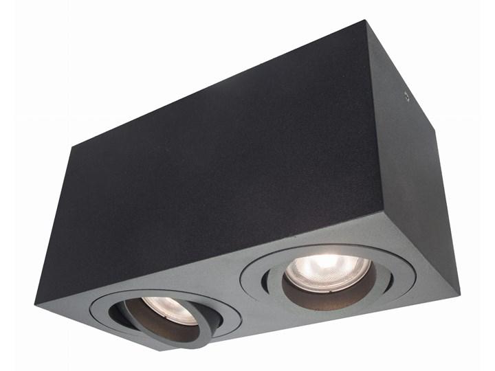 Lampa Lyon 2 oprawa natynkowa czarna Kolor Czarny Oprawa stropowa Kategoria Oprawy oświetleniowe