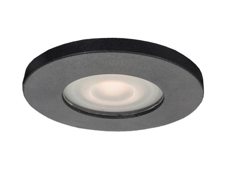 Lampa Lagos oczko podtynkowe okrągłe czarne IP65