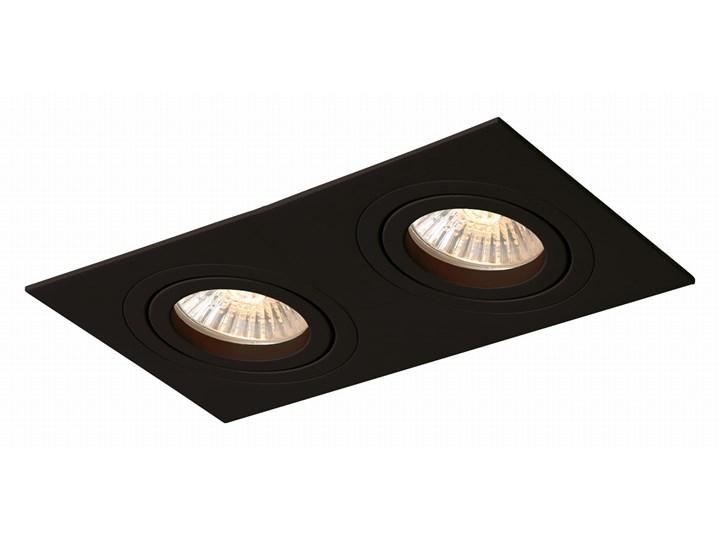 Lampa Metis 2 podtynkowa czarna Kolor Czarny