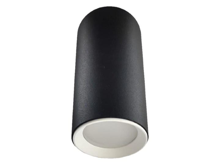 Lampa Manacor oczko czarne z białym ringiem 13 cm Oprawa stropowa Oprawa biurowa Kolor Czarny