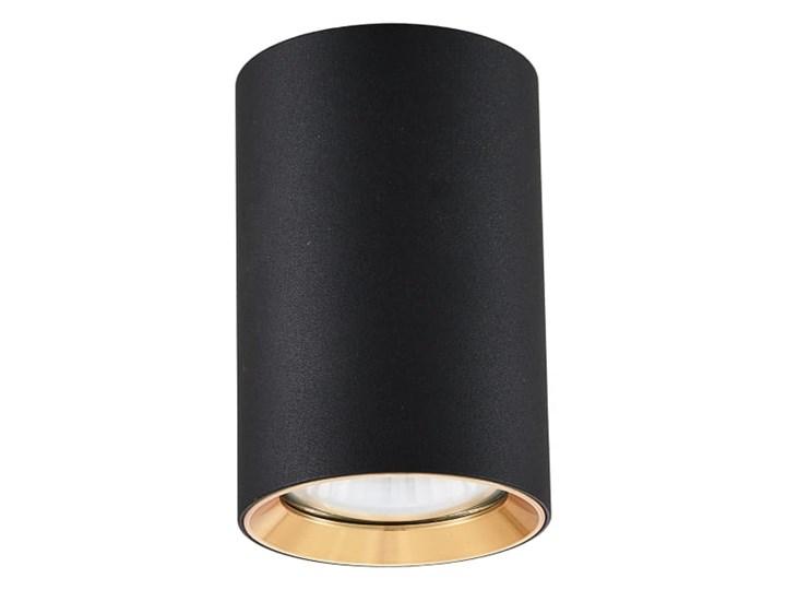 Lampa Manacor oczko czarne ze złotym ringiem 9 cm Oprawa biurowa Oprawa stropowa Kolor Czarny