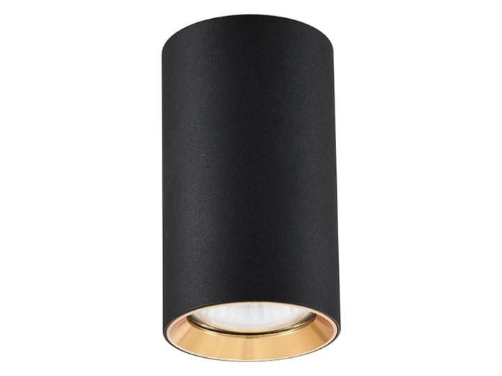 Lampa Manacor oczko czarne ze złotym ringiem 13 cm Oprawa stropowa Oprawa biurowa Kolor Czarny Kategoria Oprawy oświetleniowe