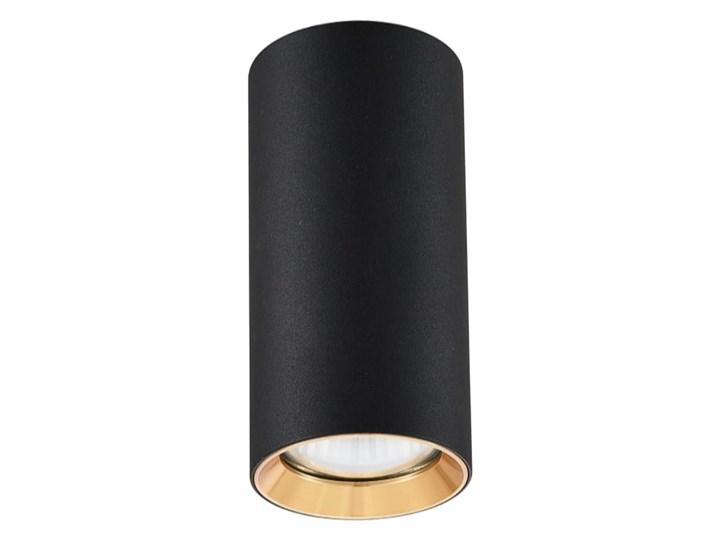 Lampa Manacor oczko czarne  ze złotym ringiem 17 cm Kolor Czarny Oprawa stropowa Oprawa biurowa Kategoria Oprawy oświetleniowe