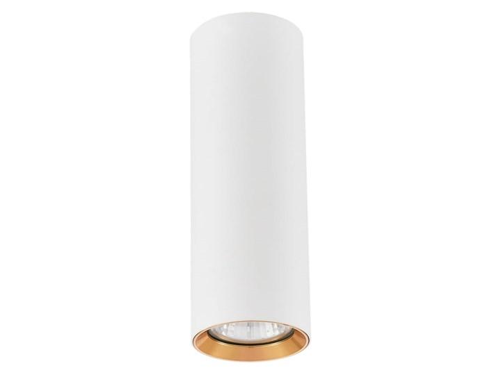 Lampa Manacor oczko białe  ze złotym ringiem 17 cm Oprawa biurowa Oprawa stropowa Kolor Biały