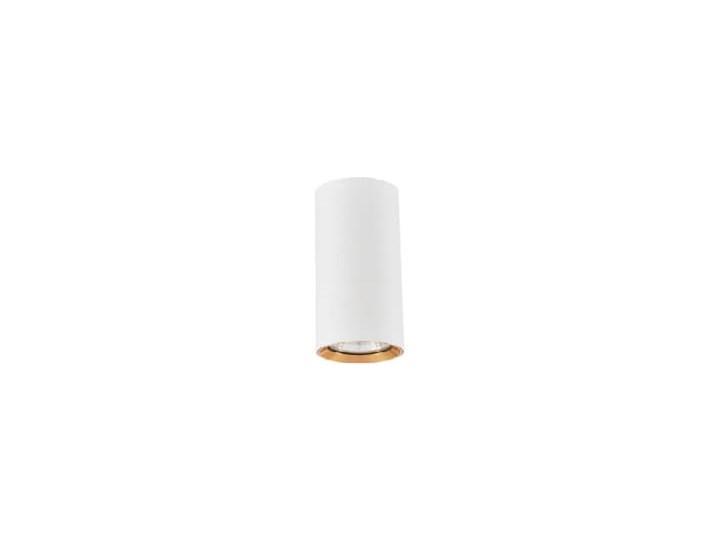 Lampa Manacor oczko białe ze złotym ringiem 9 cm Oprawa stropowa Kolor Biały