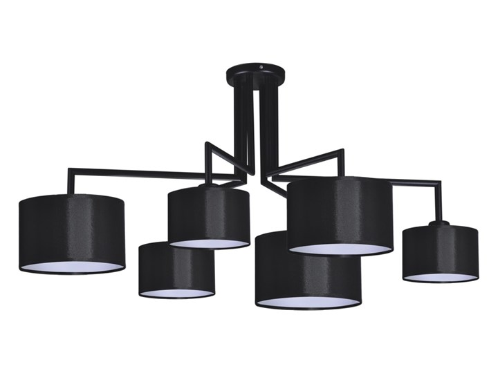 żyrandol SIMONE BLACK K-4321 Metal Lampa z abażurem Kolor Czarny